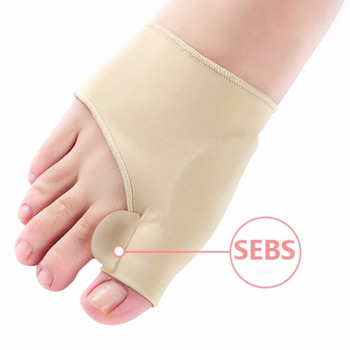 2Pcs=1Pair Big Toe Hallux Valgus Corrector Orthotics Feet Care Bone Thumb Adjuster Correction Pedicure Socks Bunion Straightener 1