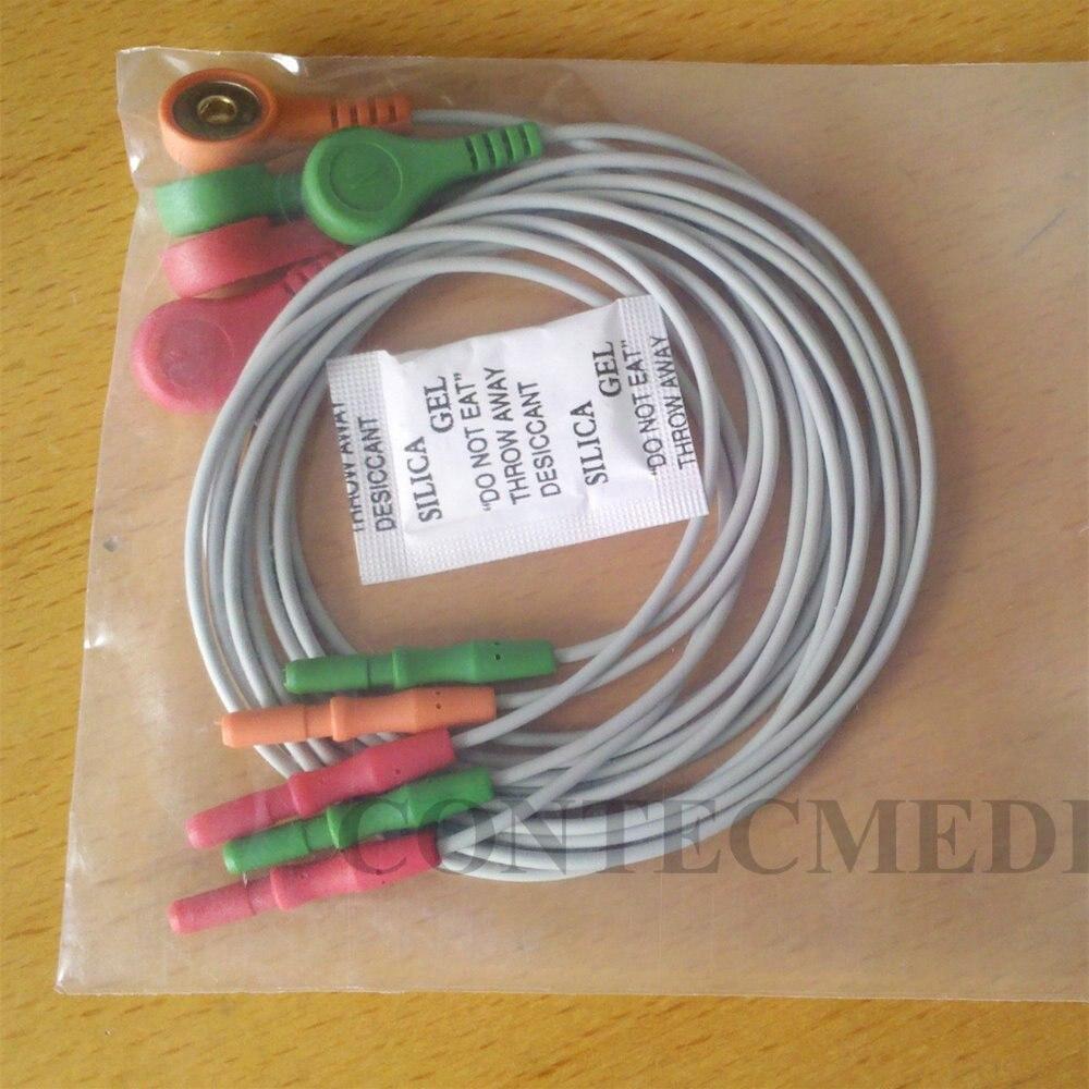 Cabo de ECG ECG de chumbo CONTEC TLC9803 3-Gravador de Holter de ECG Canal único Sistema de Cabo