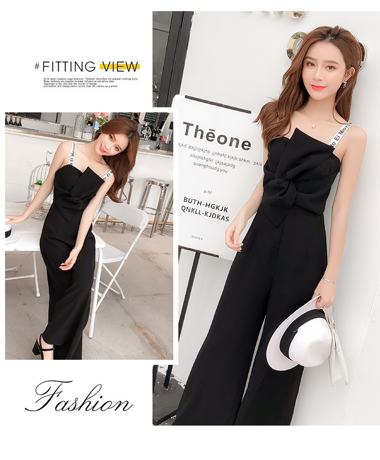 Summer New Sling Bowknot Rompers Womens Jumpsuit Fashion Wide Leg Pants Thin Combinaison Femme Elegant Ol Clothes For Women 11