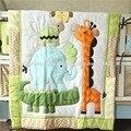 Ups livre 7 pcs dos desenhos animados do bebê cama de bebê conjunto ropa de cama berço bedding quilt bumper folha saia incluído