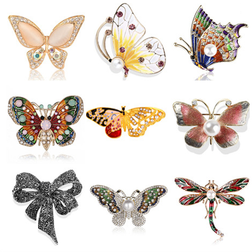 Sukyy Natural Animals Jewelry Brooch Pins Bee Dragonfly Insect Parrot Bird Beetle Brooches for Women Costume Brooch Pins Gift