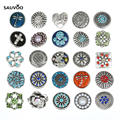 Sauvoo 10pcs/lot Mixed Color Rhinestone Crystal Flower Animal Metal Buttons Base Dia 20mm for Diy Decoration F5399
