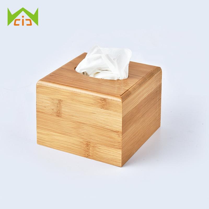 WCIC Natural Wood Tissue Box Bathroom Car Room Baby Wipes Dispenser Napkin Holder Paper Case Kleenex Towel Box Toilet Paper Box