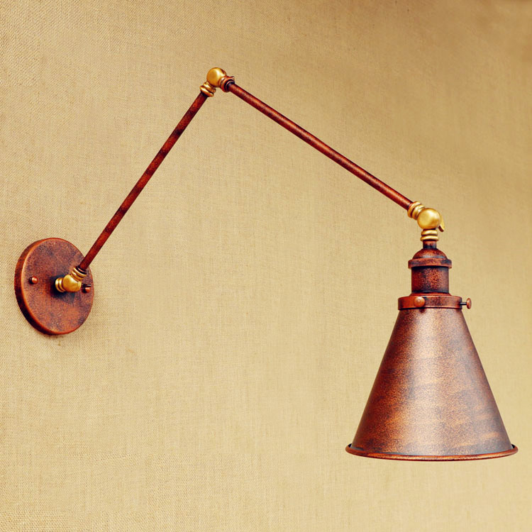 Antique Industrial Loft Vintage Wall Lamp Lights For Home Lighting Swing Long Arm Wall Light Sconce Applique Murale LED цена 2017