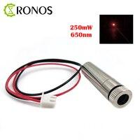 Free Shipping High Power 650nm 250mW Dot Red Laser Module Laser Modul Focus Adjustable Laser Diode