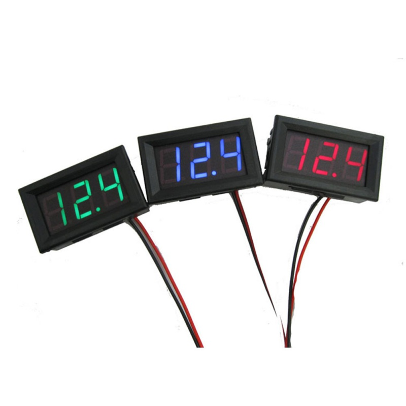 Newest Mini Voltmeter Tester Digital Voltage Test <font><b>Battery</b></font> DC 0-30V Red/Blue/Green Auto <font><b>Car</b></font> image