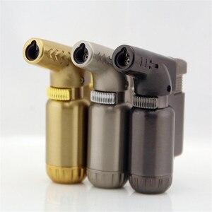 Image 1 - Açık kompakt bütan Jet çakmak meşale yangın rüzgar geçirmez taşınabilir püskürtme tabancası Metal çakmak 1300 C yok gaz