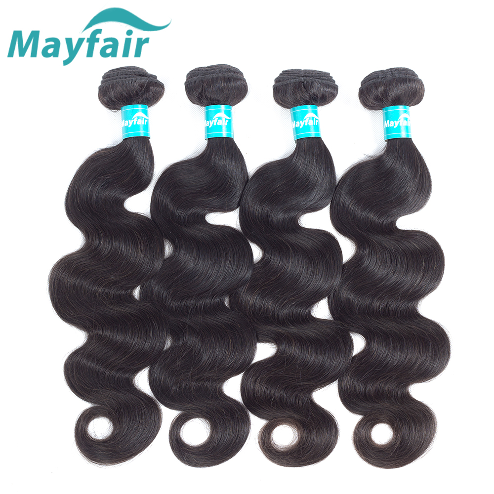 Mayfair Brazilian Body Wave Hair 4 Bundles Brazilian Hair Weave Bundles Human Hair Extention Remy Hair Bundles Natural Color
