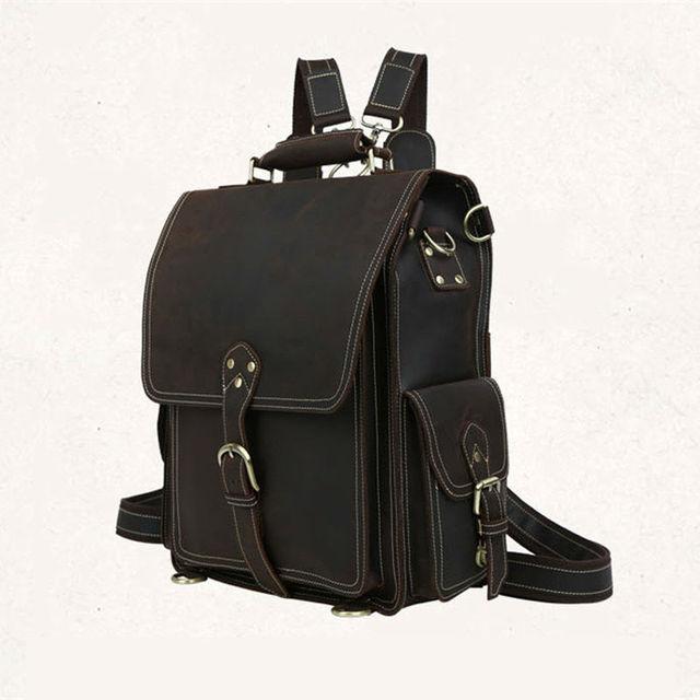 Aliexpress.com : Buy Vintage Men's Genuine Leather Backpack Men ...