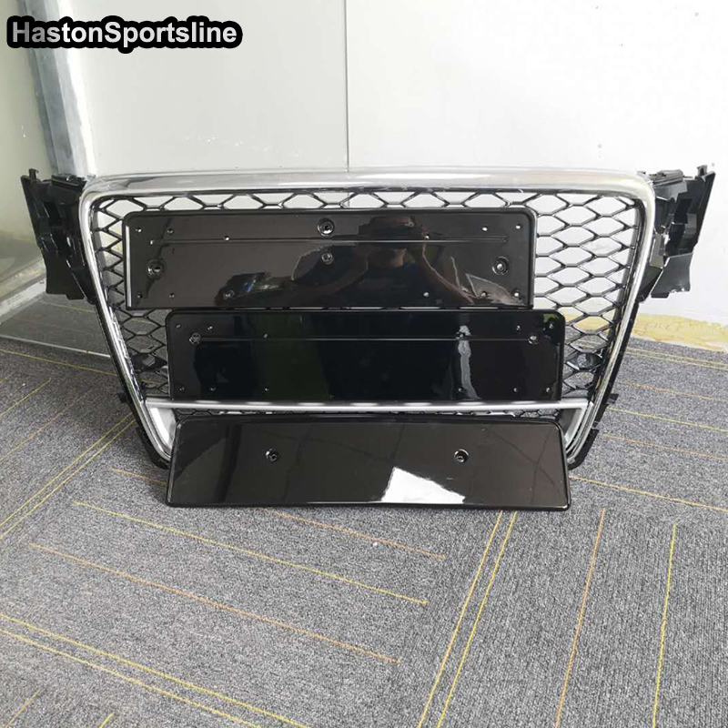 RS5 Quattro Style with 4ring logo Front Bumper mesh Grille For Audi A5 2008 2011