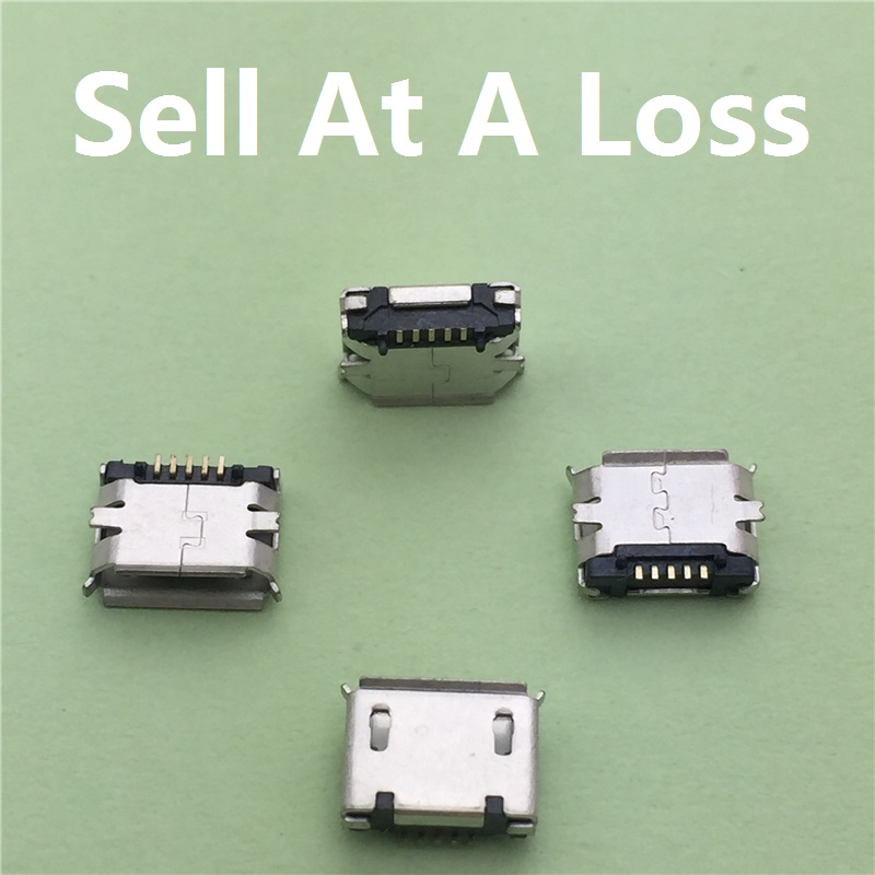 10pcs lot Micro font b USB b font Type B Female 5Pin SMT Socket G18 Jack