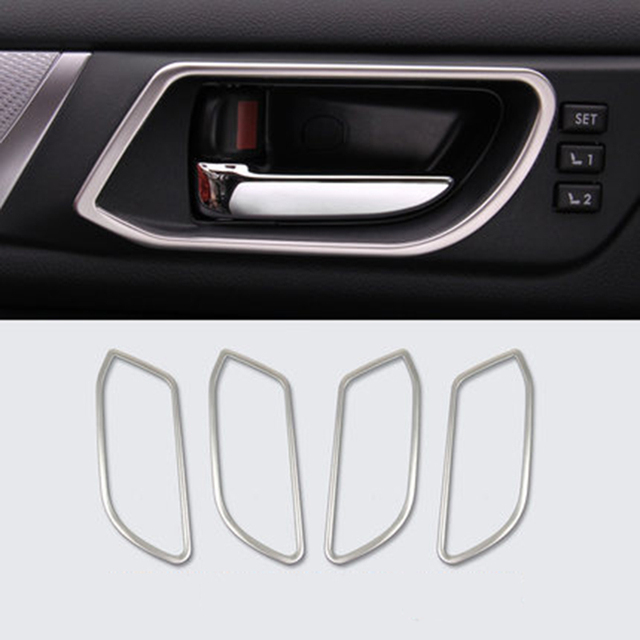 Stainless interior door handles trim decal stickers fit for 2015 stainless interior door handles trim decal stickers fit for 2015 2016 2017 subaru outback accessories car planetlyrics Images
