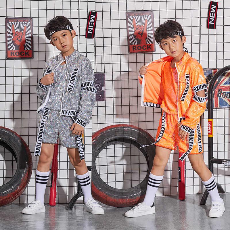Новые костюмы для мальчиков, мужской хип-хоп костюм для уличных танцев костюм для джазовых танцев Детская Одежда для танцев Одежда для поди...