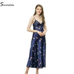 Smmoloa оптовая продажа пижамы шелковые ночные сорочки дешевое сексуальное женское белье