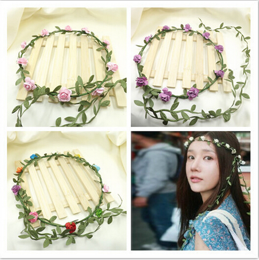 seaside resort photo camera floral headband flower girl crown flowers  garlands for hair garland ribbon wreath accessories tiara 16a06509cf3
