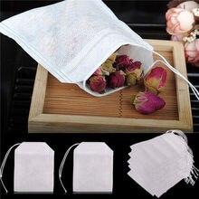 100 шт./лот чайные пакетики пустые чайные пакетики со струной Heal Seal фильтровальная бумага для травяной листовой чай 5,5x7 см