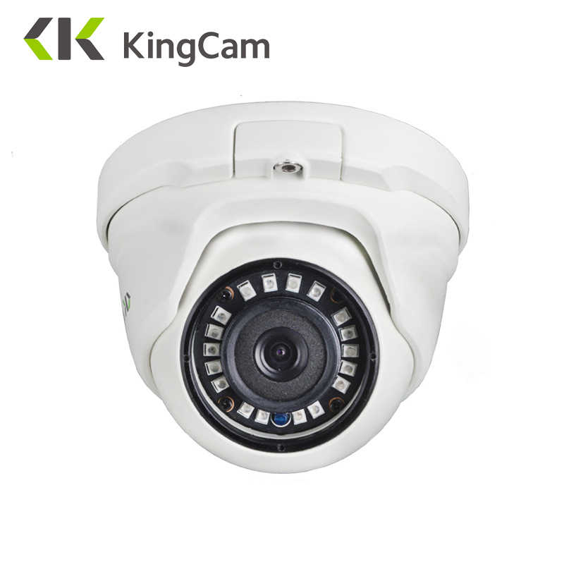 KingCam 2.8mm עדשה רחב זווית מתכת POE IP מצלמה 1080 P 960 P 720 P אבטחה חיצוני ONVIF רשת טלוויזיה במעגל סגור מעקבים כיפת ipcam