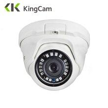 KingCam 2.8mm obiektyw szerokokątny Metal POE kamera IP 1080P 960P 720P bezpieczeństwo zewnętrzna ONVIF sieć cctv nadzór Dome ipcam