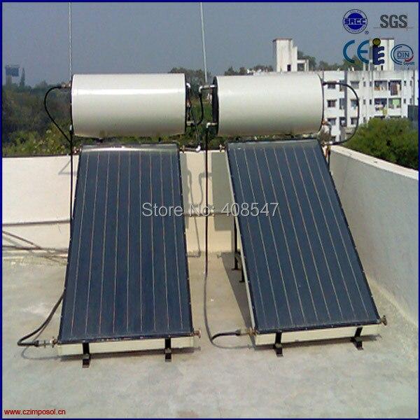 200l Low Pressure Copper Aluminum Flat Panel Solar Water
