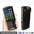 PDA portátil A Laser 2D Scanner de Código De Barras Android 4G lte Handheld Terminal Coletor de Dados Leitor IP65 Robusto Telefone À Prova D' Água de Metal