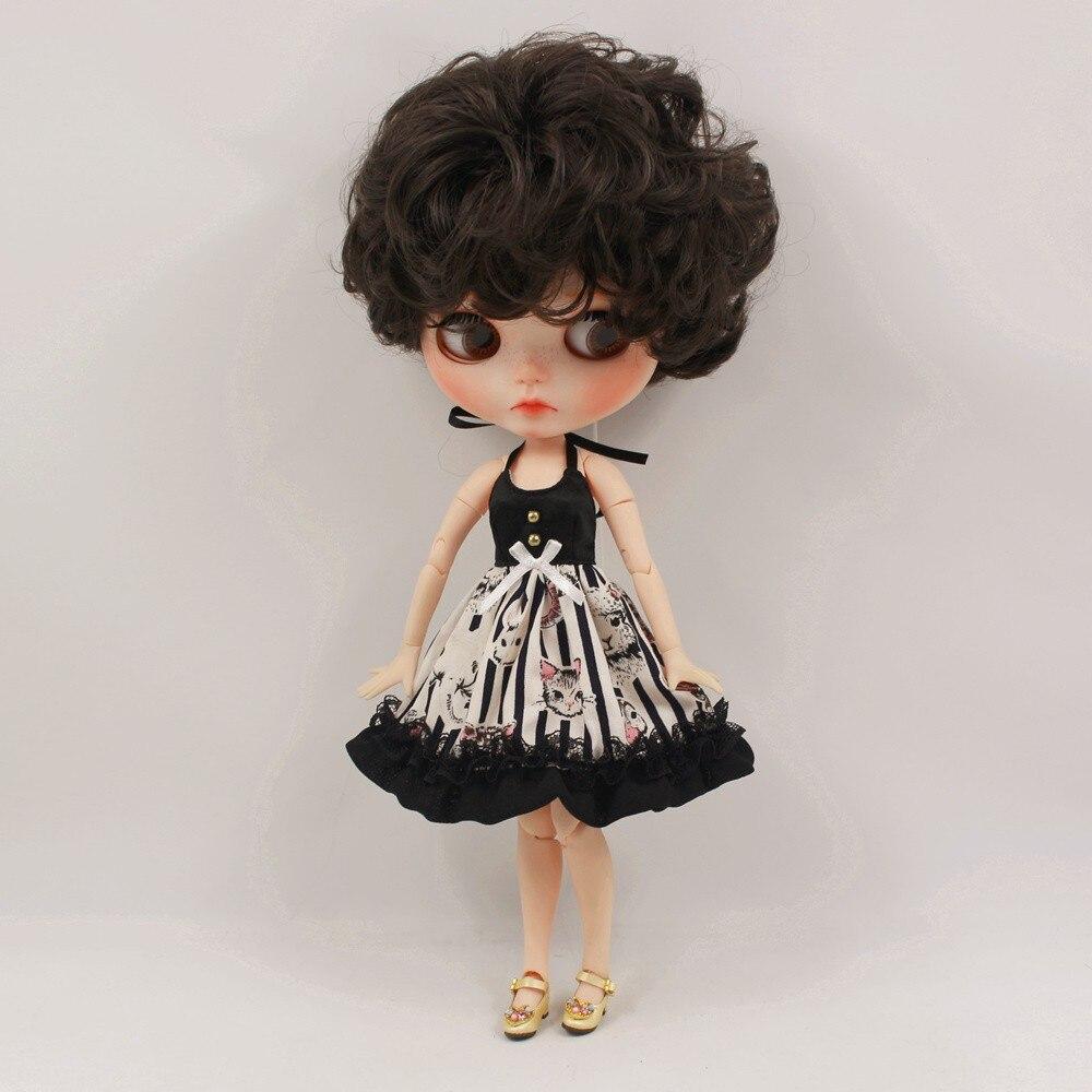 Neo Blythe Doll Black Strap Dress 3