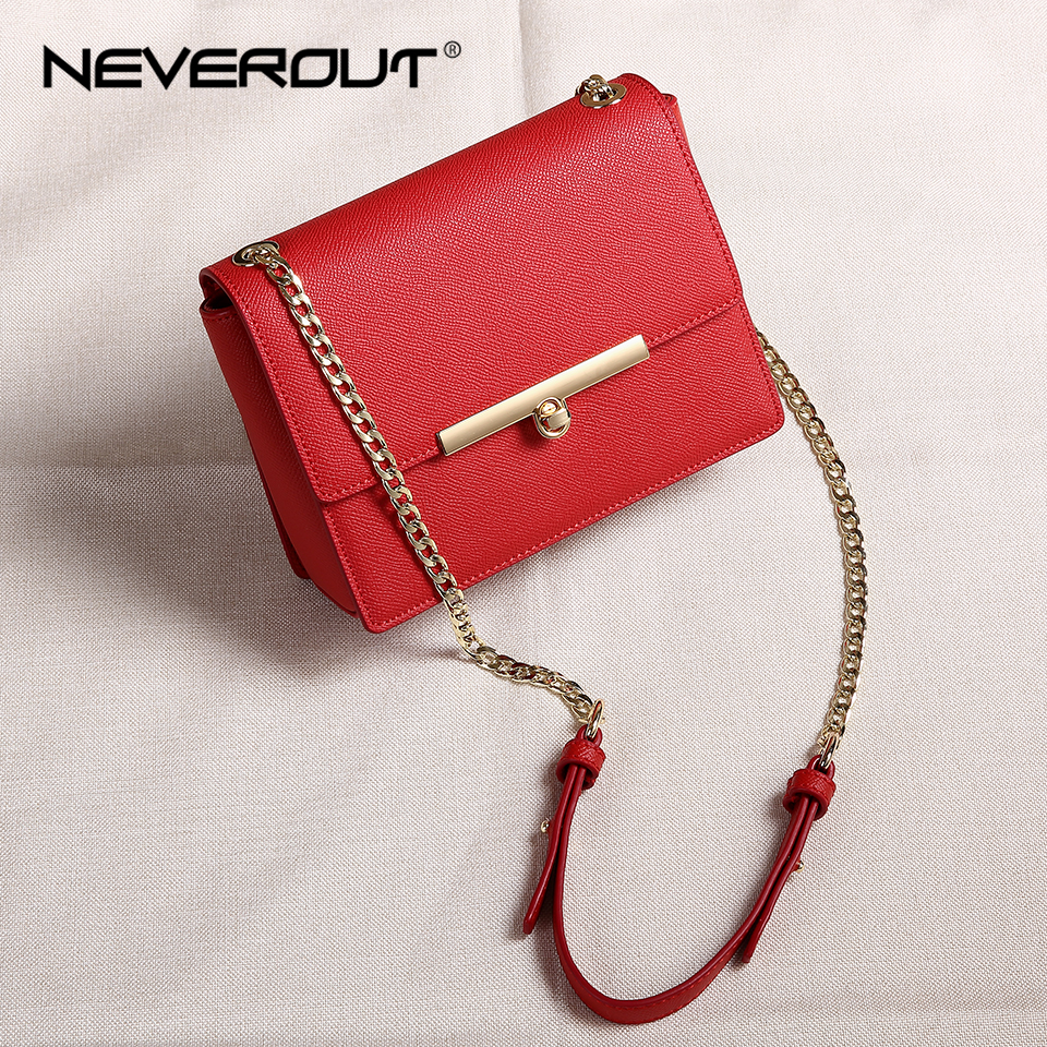 NEVEROUT Women s Flap Bags Solid Split Leather Messenger Bag Ladies Fashion Shoulder Sac Brand Cross