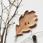 Originais Feitas À Mão Placa De Madeira Maple Leaves Estilo para Lanches/Bolo Placa Prato Criativo Bandeja de Armazenamento de Utensílios de Mesa de Madeira de Faia - 2