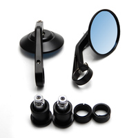 Universal Motorcycle Mirrors 13mm 18mm Handle Bar For Universal CNC Handle Bar End Rear Side View