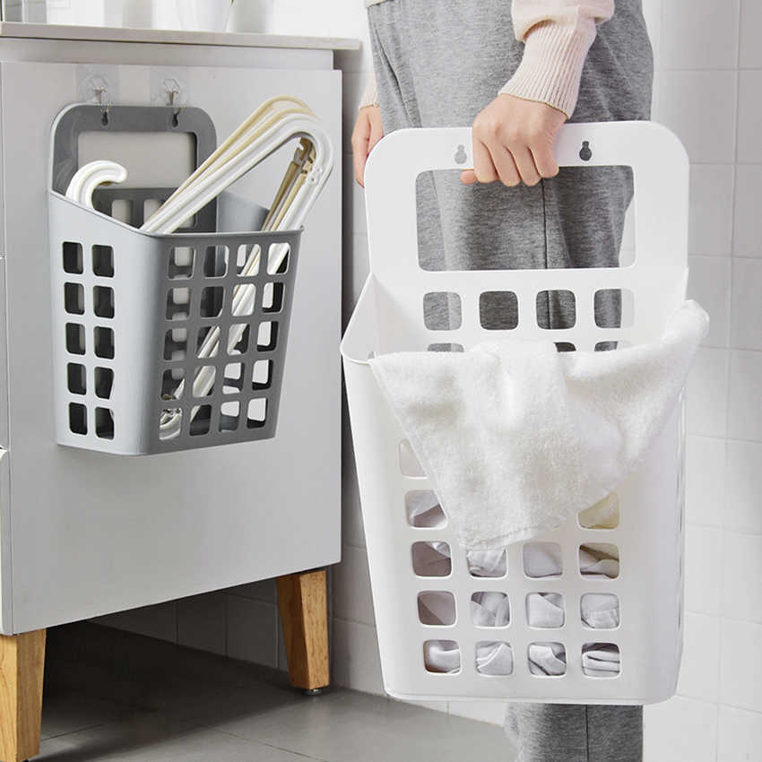 Creative Plastic Container Hollow Laundry Storage Basket Multi-Function Home Bathroom Large Portable Sundries Storage Baskets