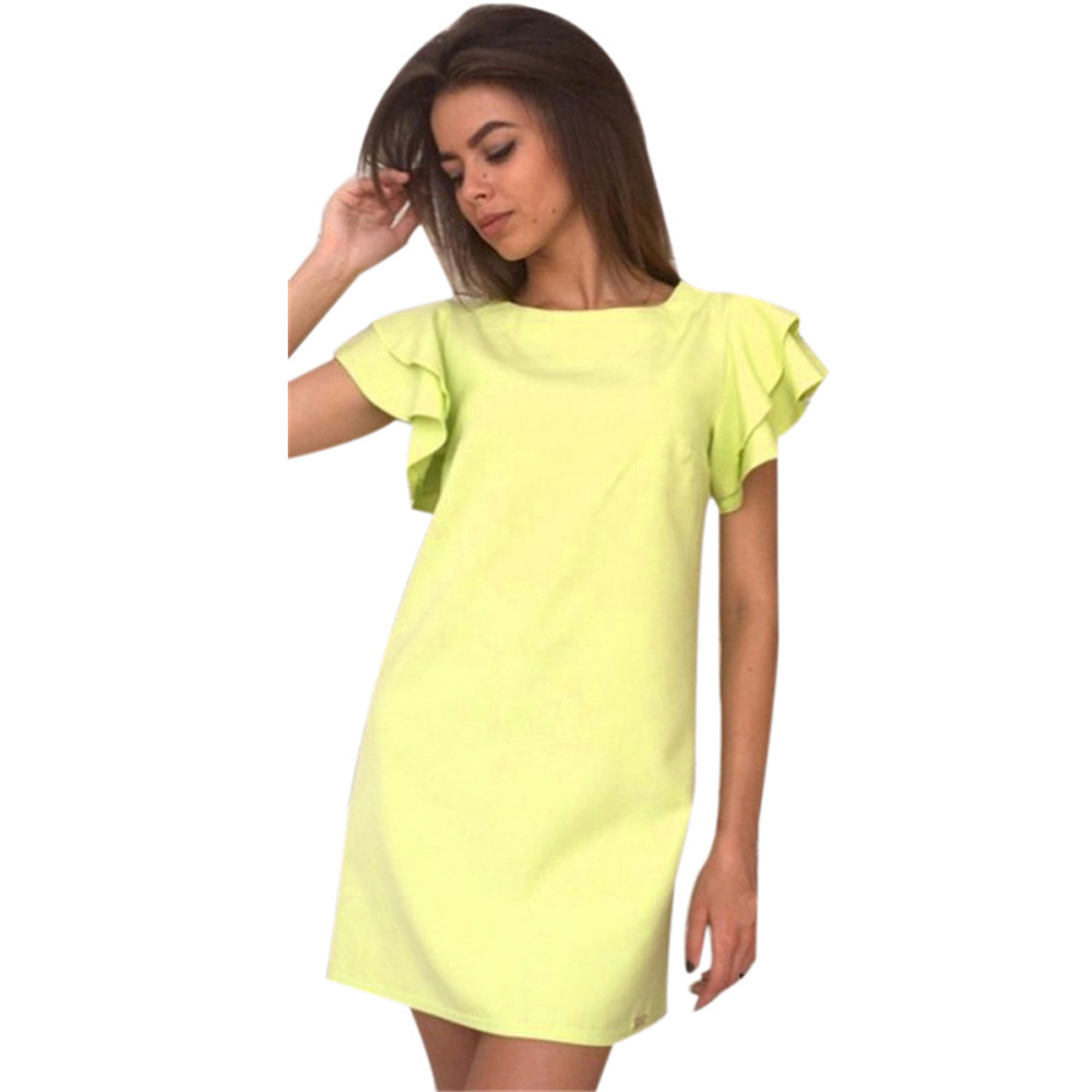 9b35839cd5eb7 Fashion Butterfly Sleeve Straight Dress 2019 Summer Women's Sexy ...