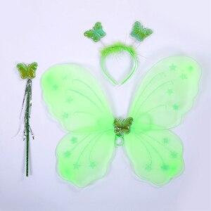 Image 5 - 녹색 산타 꽃 요정 공주 파티 드레스 어린 소녀 역할 놀이 투투 드레스 요정 마술 지팡이 날개 모자를 쓰고 있죠 1 12Y
