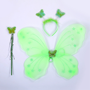 Image 5 - Green Santa Flower Fairy Princess Party Dresses for Little Girls Role Play Tutu Dress with Fairy Magic Wand Wing Headwear 1 12Y