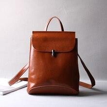 2017 классические модные кожаная сумка Винтаж Теплые Дамы Настоящее 100% натуральная кожа рюкзак на рюкзак сумки на плечо