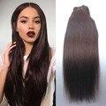 8A #2 Dark Brown Grampo No Cabelo Virgem Peruano Reta 7 PCS 120 G/SET Cabelo Humano Puro Clipe de Venda Quente Em Extensões de cabelo humano remy