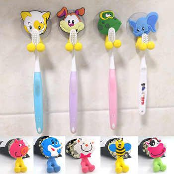 Wall Mounted Toothpaste Suction Cup Holder Antibacterial Toothbrush Holder Hooks Set