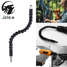 ФОТО Jelbo 290mm Electric Drill Power Tool Flexible Shaft Telescopic Screwdriver Drill Pipe Connect Tube Shaft Bits Power Tool