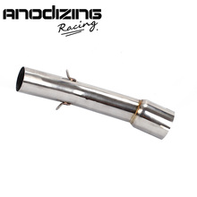Motorcycle Exhaust Middle Pipe Round Muffler for YAMAHA FZ1 2006 2015 without exhaust