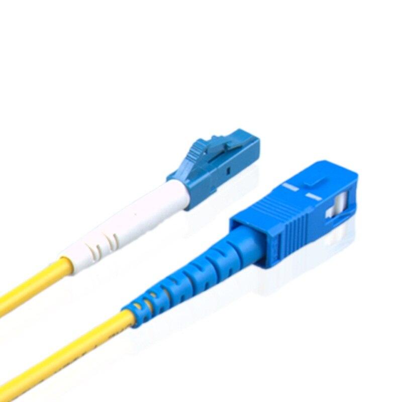 50PCS/LOT 2.0MM LC to SC fiber optical patch cord jumper cable, SM,Single Mode simplex, 9/125, 1M/1.5M/3M
