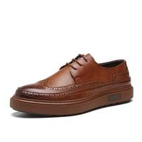 Men Leather Shoes Men Dress Shoes Formal Wedding Party Shoes For Men Retro Brogue Shoes Luxury Brand Men's Oxfords