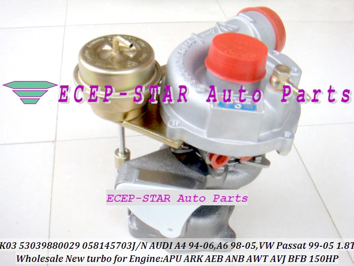 K03 53039880029 53039700029 058145703J Turbo Turbocharger For AUDI A4 A6 C5 For VOLKSWAGE VW Passat B5 1.8T AEB AJL APU ARK 1.8L