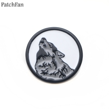Patchfan Vikings Wolf head Zinc Enamel pins Trendy medal insignia para backpack shirt clothes brooches badge for men women A1658