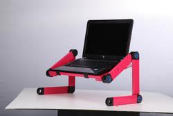 Портативный складной стол компьютера Регулируемый Эргономика подставка для ноутбука стоять на кровать диван, компьютерный стол без мыши