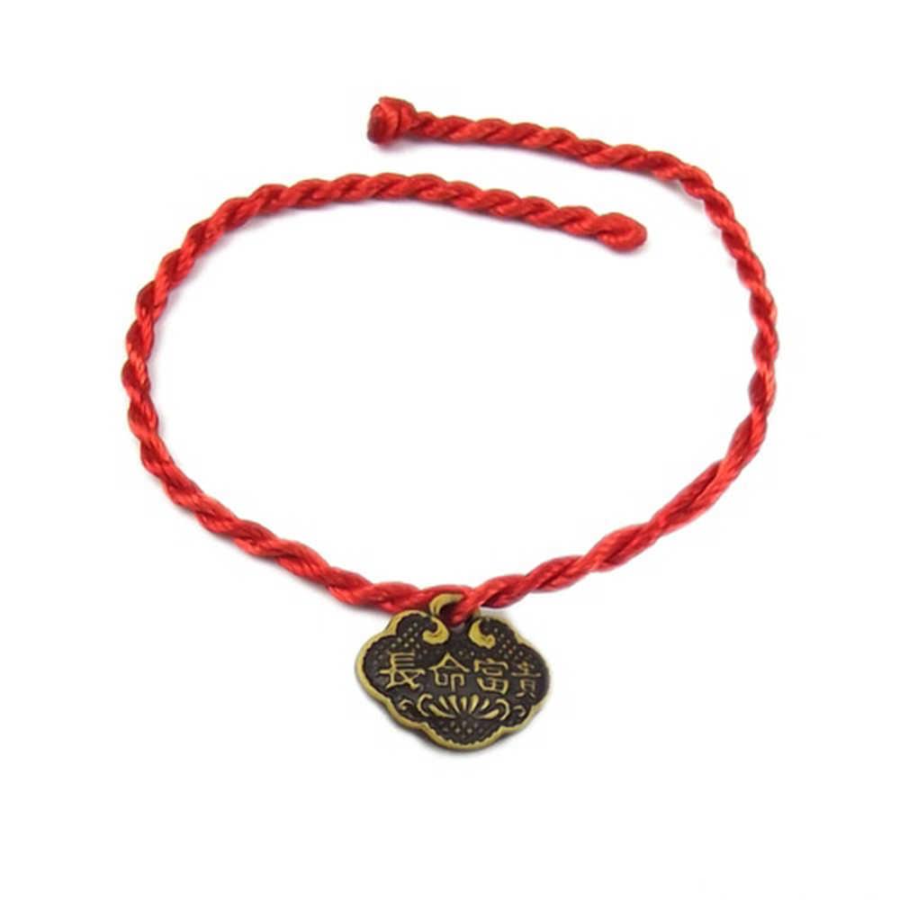 2 יח'\חבילה חדש אופנה אדום חוט מחרוזת צמיד מזל חבל צמיד בעבודת יד חבל לנשים גברים דגי תכשיטי מאהב זוג מתנה