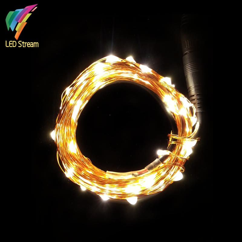 12vdc 10m 33ft 100led decorative tiny led copper wire starry string lights for christmas - Led decorative string lights ...
