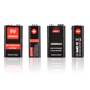 Image 2 - USB Charging 9V 1000mAh Li ion Battery 6F22 USB Rechargeable battery 9v lithium for Multimeter Microphone Toy Remote Control