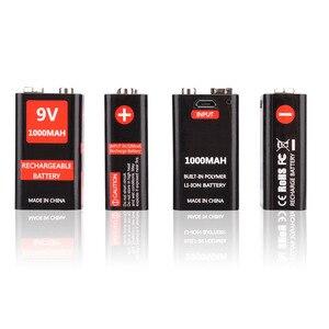 Image 2 - USB Sạc 9 V 1000 mAh Li Ion Pin 6F22 USB Có Thể Sạc Lại pin 9 v lithium cho Vạn Năng Microphone Đồ Chơi Từ Xa điều khiển