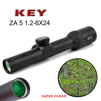 Hot new Free shipping Tactical ZA 5i HD 1.2-6 Air Rifle Optics Sniper Scope Compact Riflescopes hunting scopes for shooting