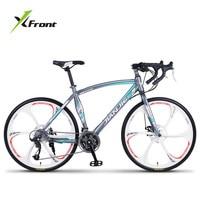 New Brand Road Bike Carbon Steel Frame 24 27 30 Speed Disc Brake Break Wind Cycling