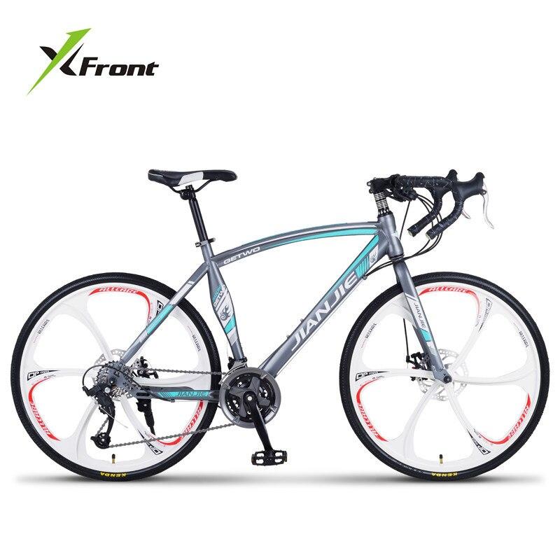 Nouvelle Marque Vélo De Route Cadre En Acier Au Carbone 24/27/30 Vitesses Frein À Disque Pause Vent Cyclisme Vélo De Course en plein air Sport Bicicleta