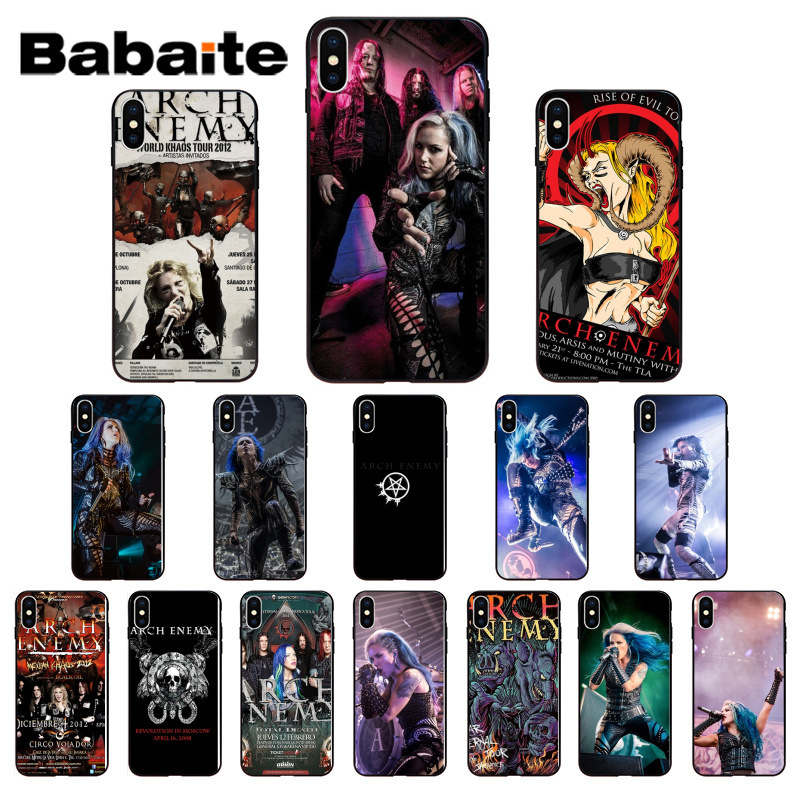 Babaite Arch Enemy Pattern TPU Soft Phone Accessories Phone Case for Apple iPhone 7 8 6 6S Plus X XS MAX 5 5S SE XR Cellphones